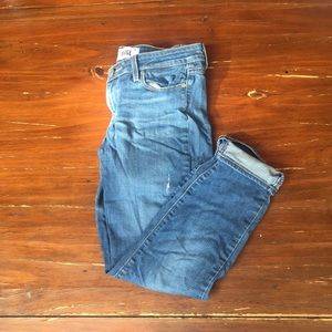 Paige kylie crop roll up jeans waist 28